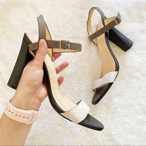 Cole Haan Colorblock Minetta Chunky Heels 11